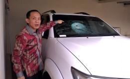 Kaca Mobil Ketua DPC Gerindra Semarang Pecah Dilempar Batu