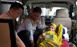 Aminah Shagar Asal Cianjur Di Bantu Pihak Disnakertrans Jawa Barat Mencari Keluarganya
